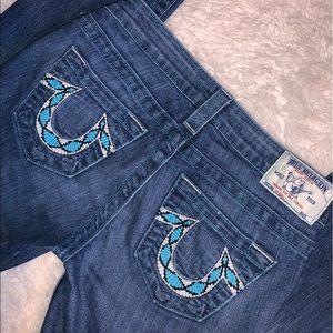 True Religion size 25 skinny jeans